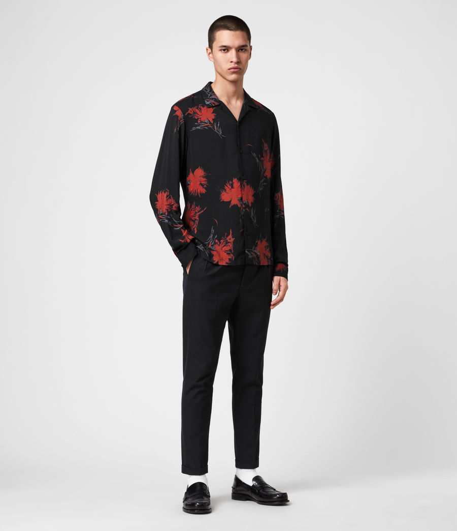 Mens Arboretum Shirt (jet_black_red) - Image 3