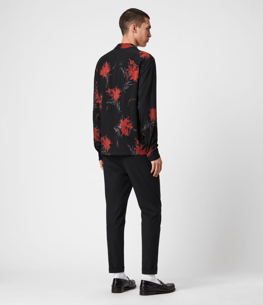 Mens Arboretum Shirt (jet_black_red) - Image 4