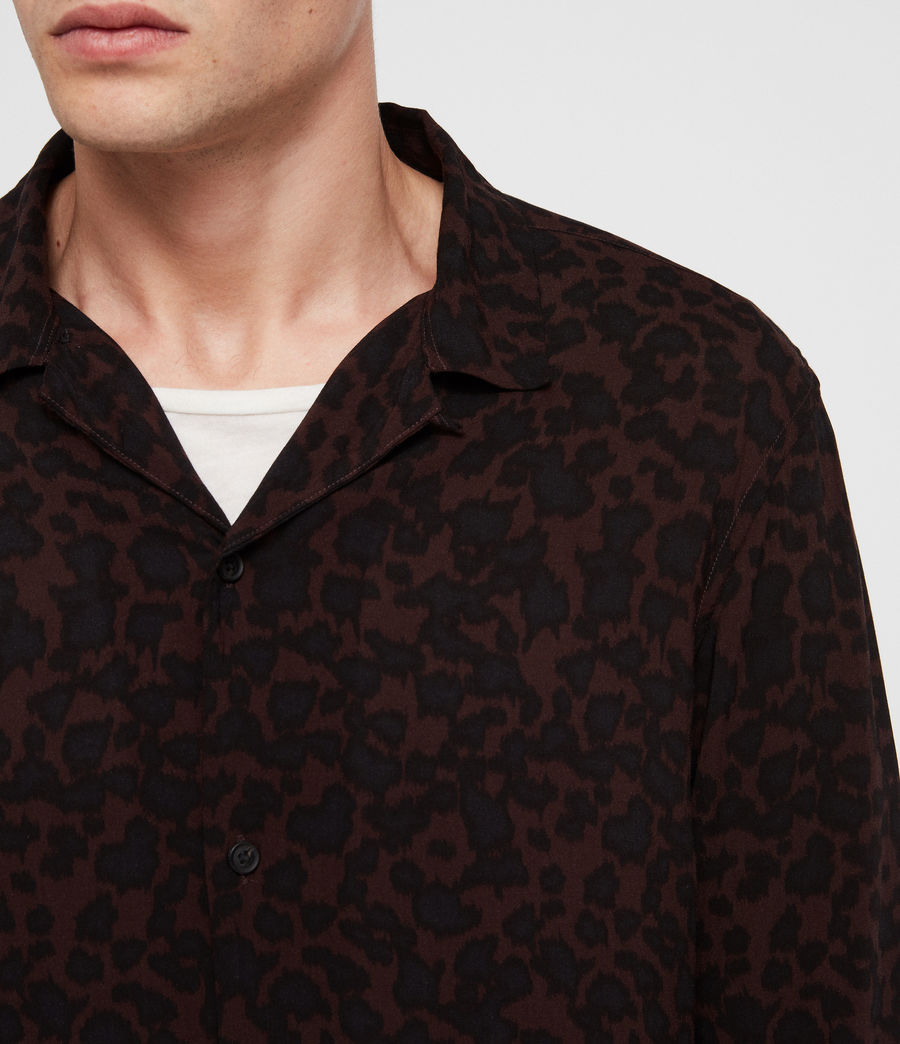 Men's Sigfried Shirt (oxbloodred_jetblck) - Image 2