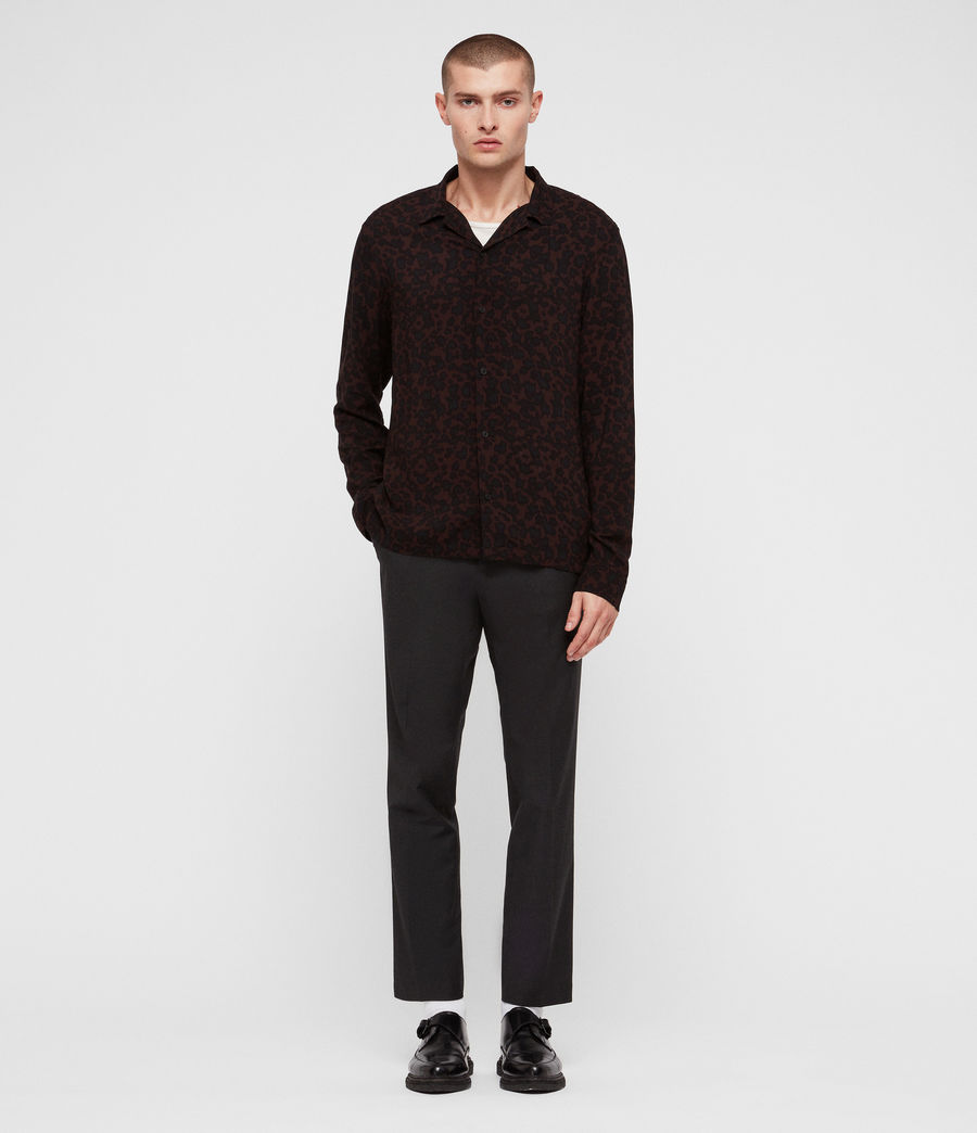 Men's Sigfried Shirt (oxbloodred_jetblck) - Image 3