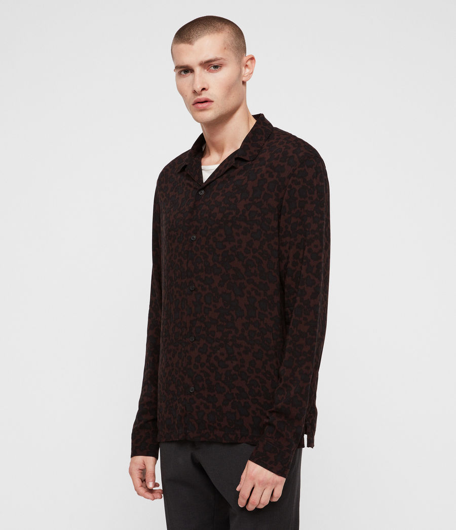 Men's Sigfried Shirt (oxbloodred_jetblck) - Image 4