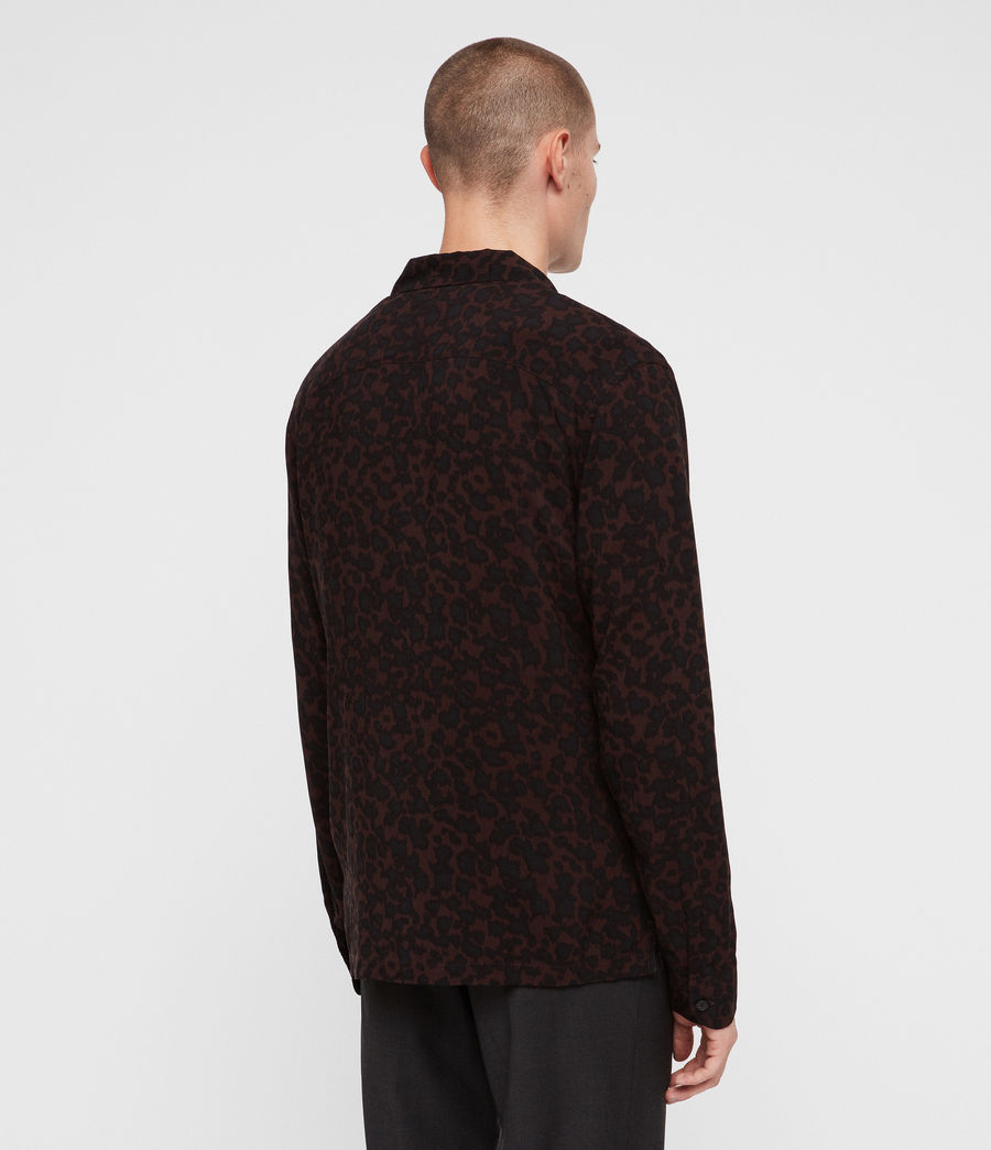 Men's Sigfried Shirt (oxbloodred_jetblck) - Image 5