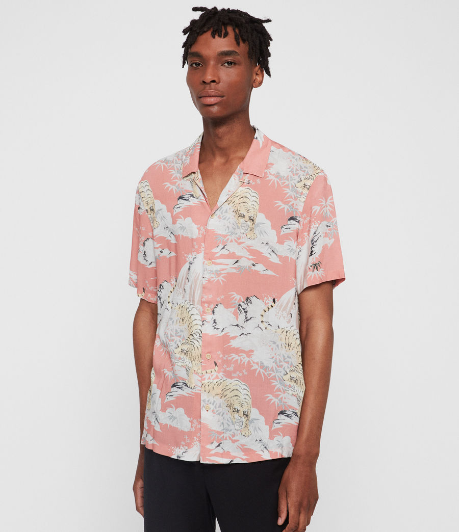 Hombres Camisa Borneo (pink) - Image 3