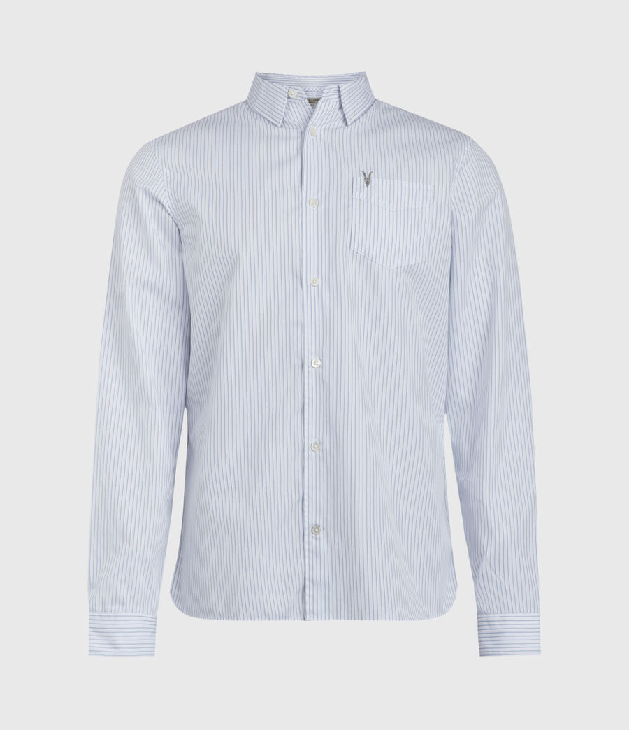 Hombres Rowland Shirt (white_blue) - Image 1