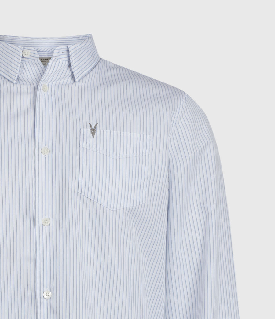 Hombres Rowland Shirt (white_blue) - Image 3
