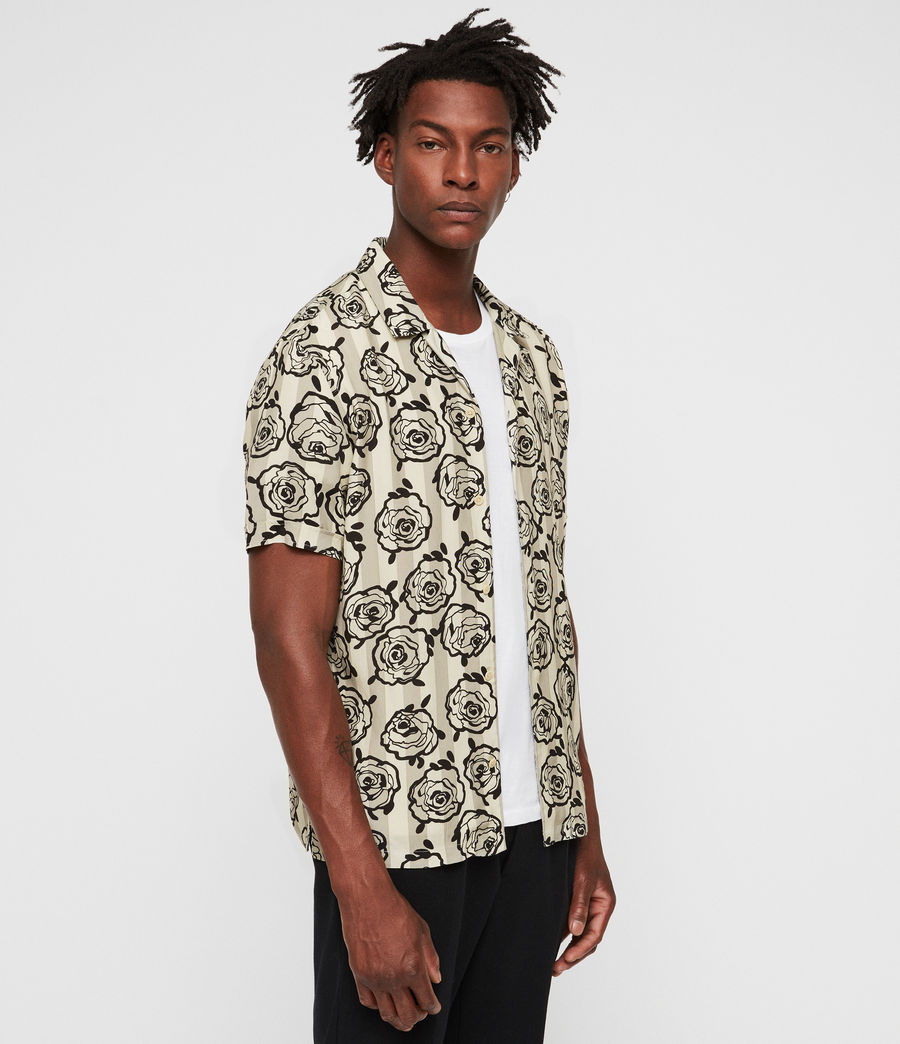 Men's Ararmaki Shirt (ecru_white) - Image 4
