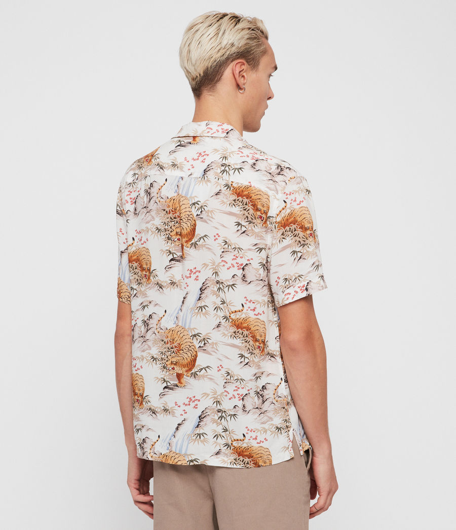Men's Sumatra Shirt (ecru_white) - Image 4