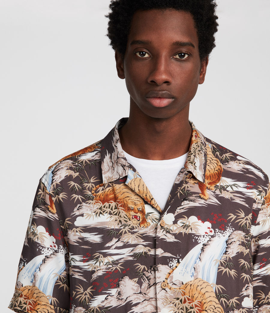 Men's Sumatra Hawaiian Shirt (coal_grey) - Image 2