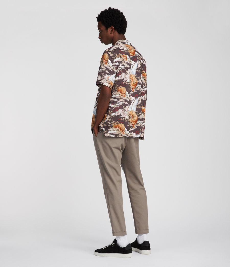 Men's Sumatra Hawaiian Shirt (coal_grey) - Image 3