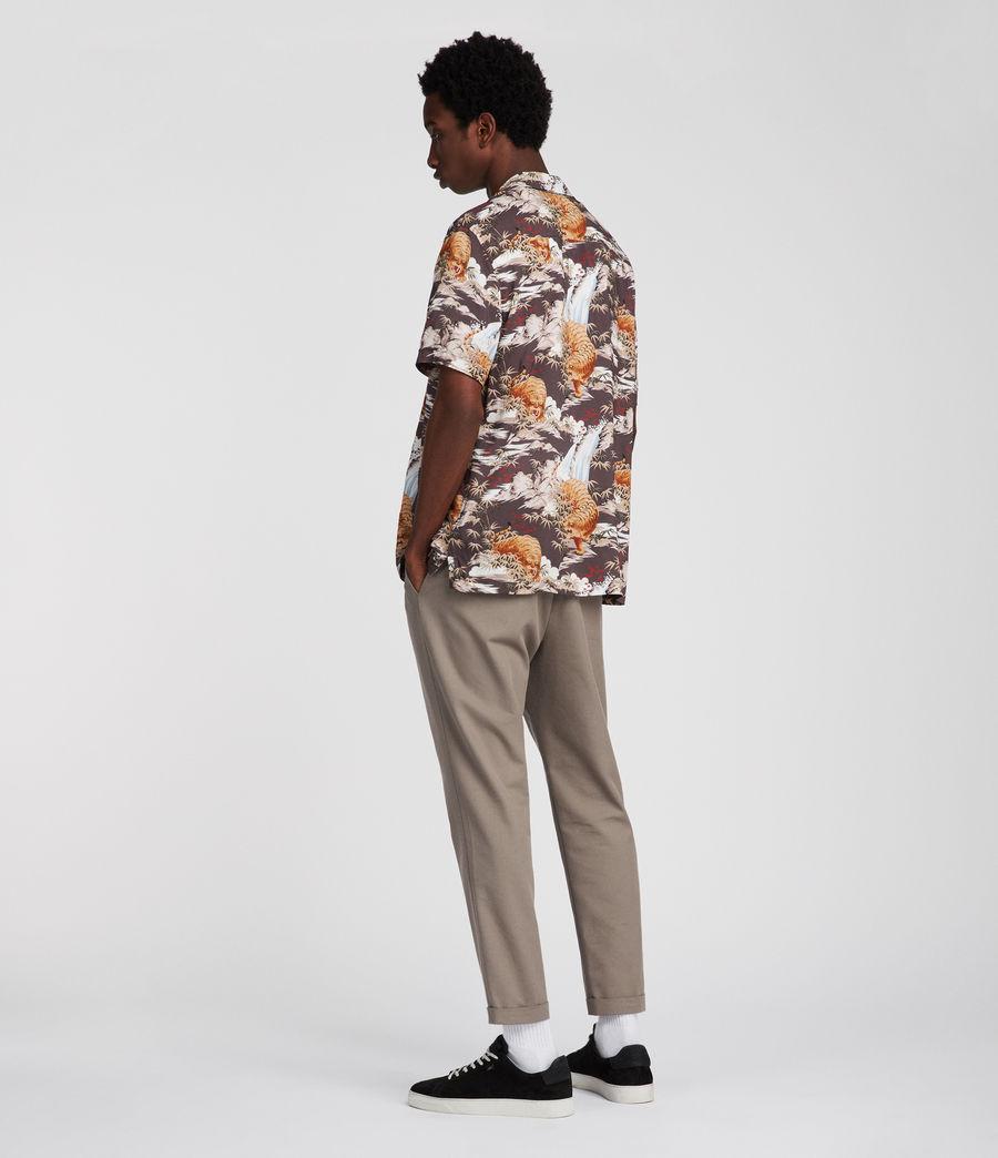 Mens Sumatra Hawaiian Shirt (coal_grey) - Image 3