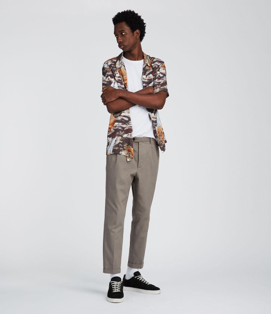 Mens Sumatra Hawaiian Shirt (coal_grey) - Image 4