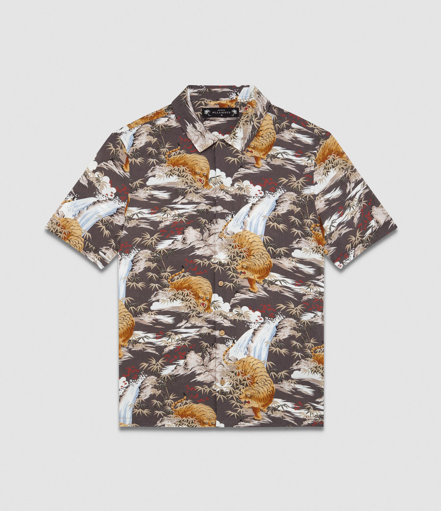 Mens Sumatra Hawaiian Shirt (coal_grey) - Image 5
