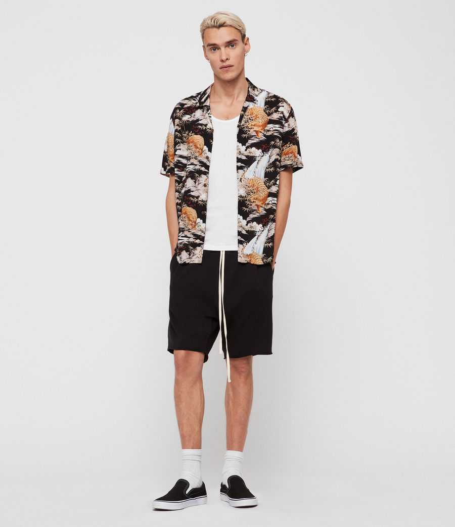 Herren Sumatra Hawaiihemd (black) - Image 1