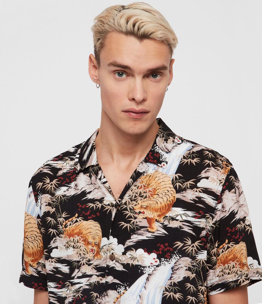 Herren Sumatra Hawaiihemd (black) - Image 2