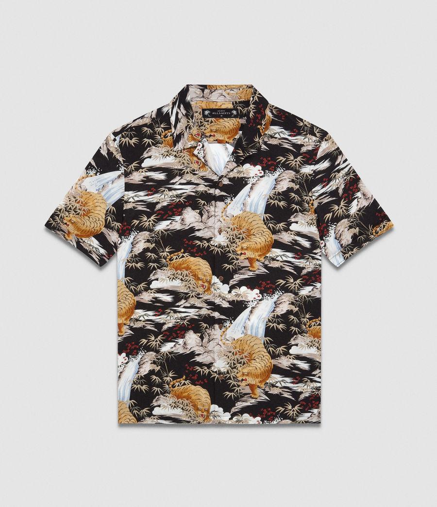 Herren Sumatra Hawaiihemd (black) - Image 5