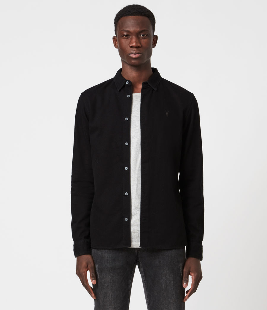 Men's Banner Shirt (jet_black) - Image 1