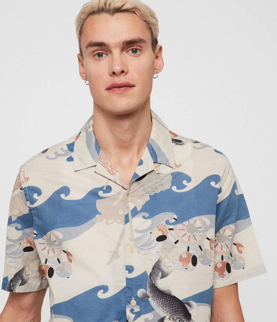 Hombres Camisa Pisces (blue) - Image 2