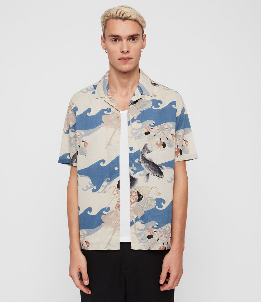 Hombres Camisa Pisces (blue) - Image 3