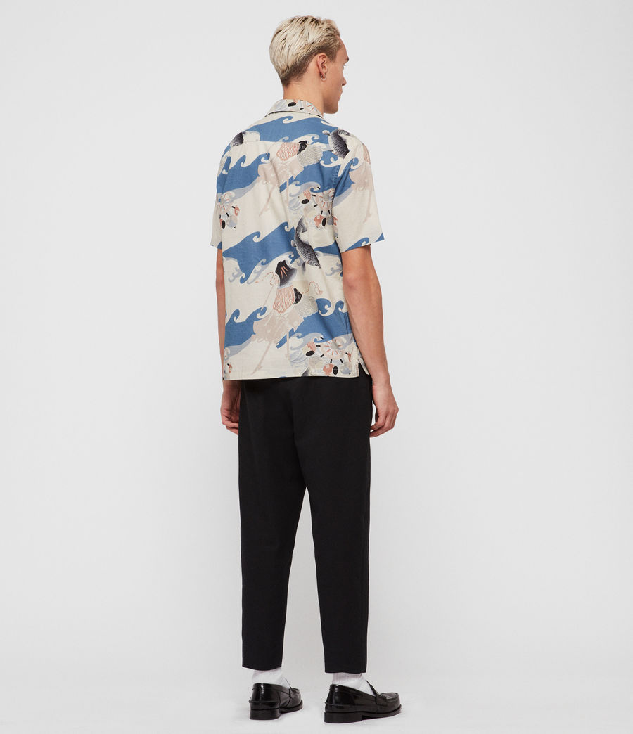 Hombres Camisa Pisces (blue) - Image 4