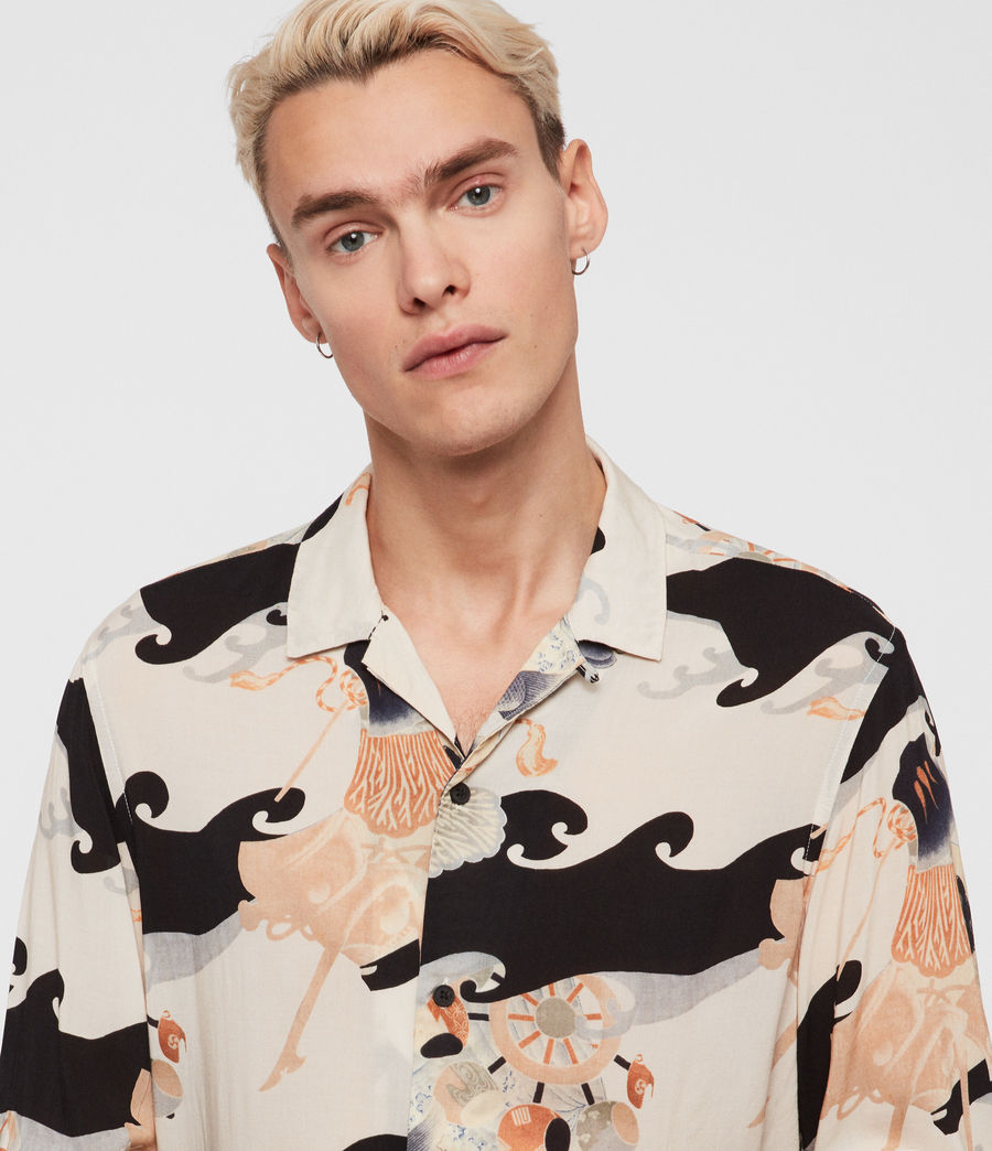 Mens Pisces Shirt (black) - Image 4