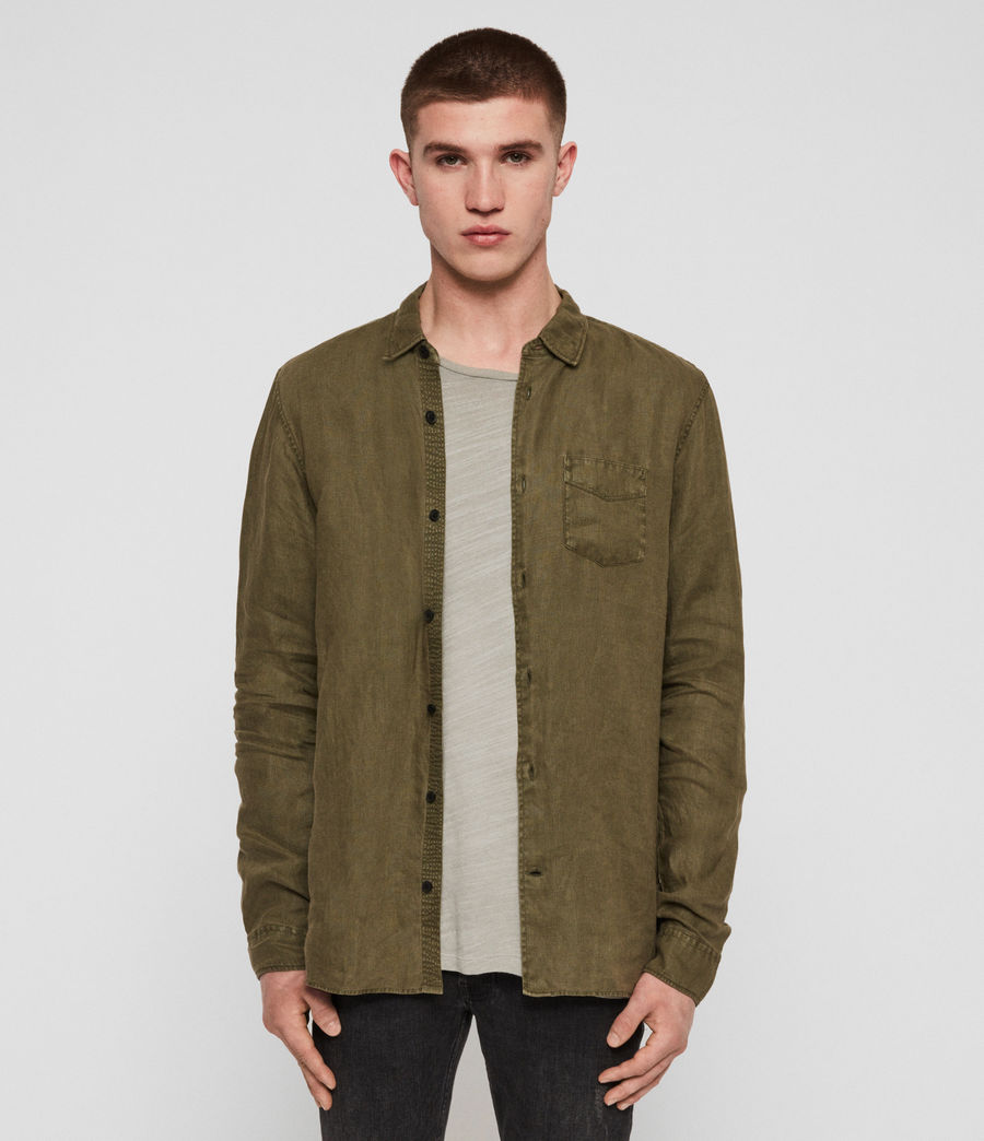 Men's Warwick Shirt (cargo_green) - Image 1