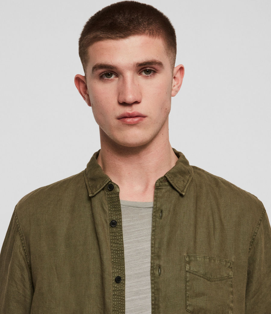 Men's Warwick Shirt (cargo_green) - Image 2