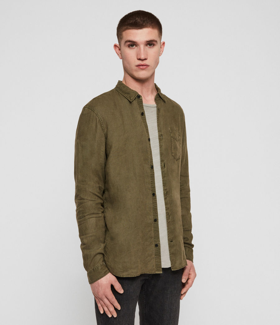 Men's Warwick Shirt (cargo_green) - Image 4