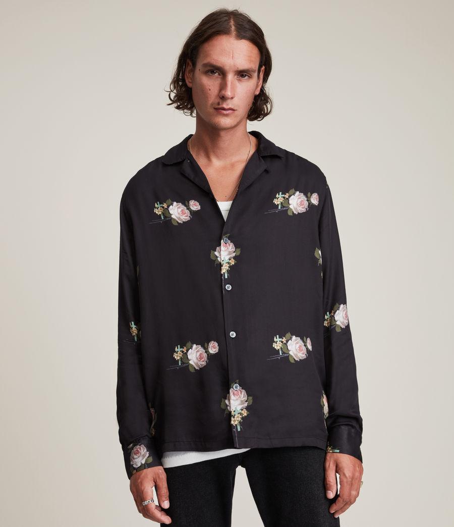 Men's Wreath Shirt (jet_black) - Image 1