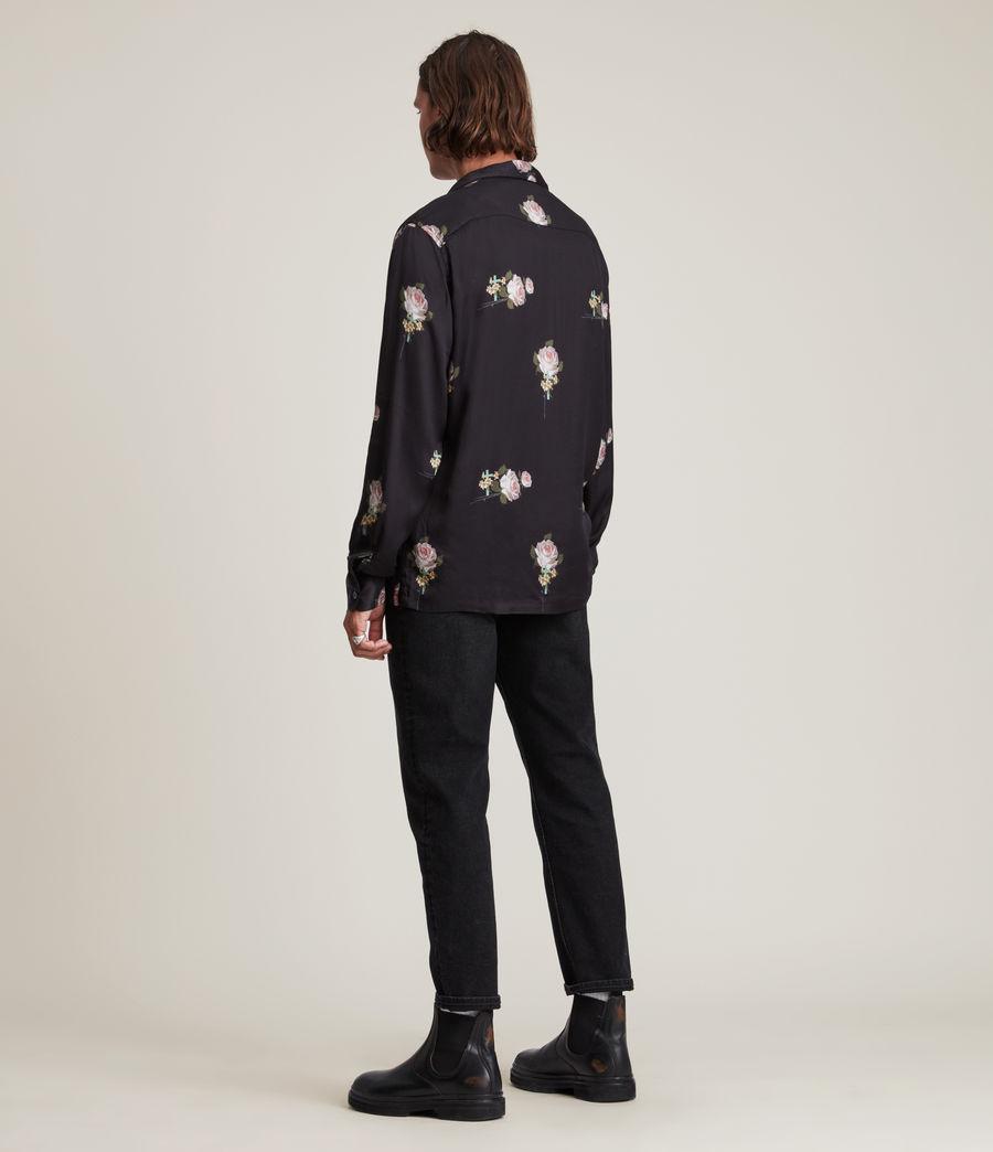 Men's Wreath Shirt (jet_black) - Image 6