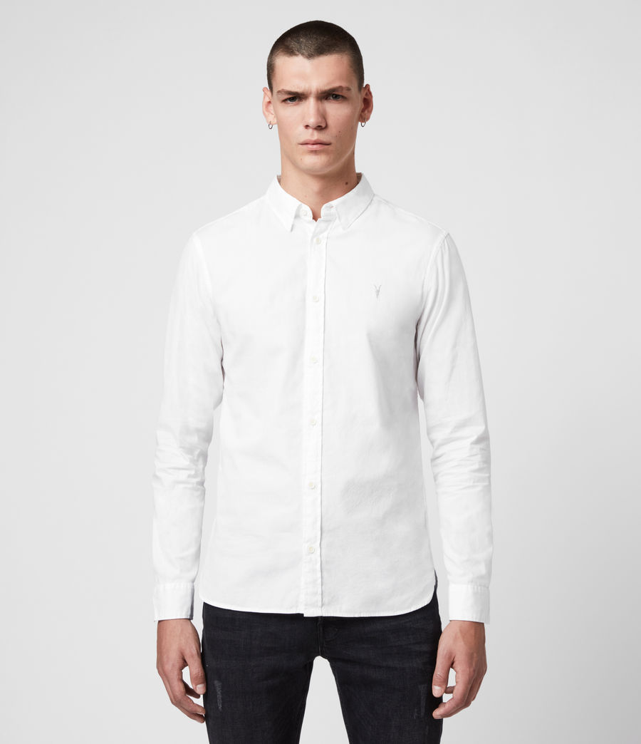 Mens Redondo Long Sleeve Shirt (white) - Image 1
