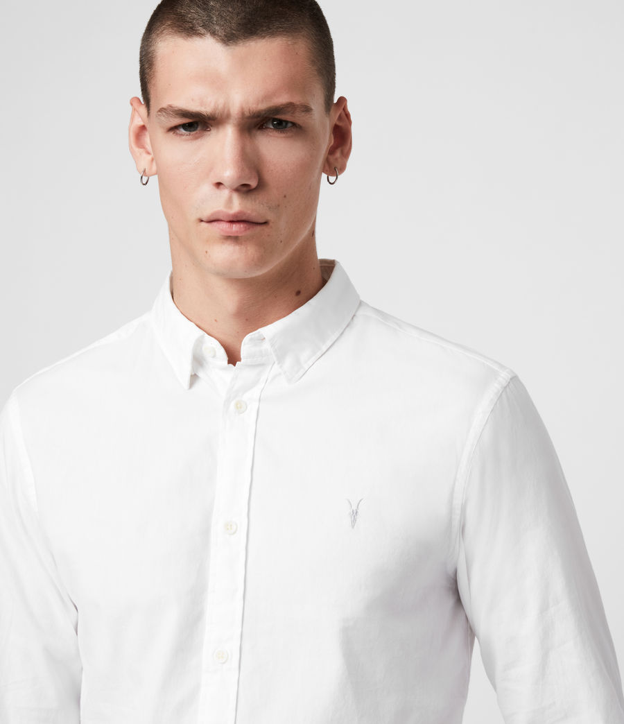Mens Redondo Long Sleeve Shirt (white) - Image 2