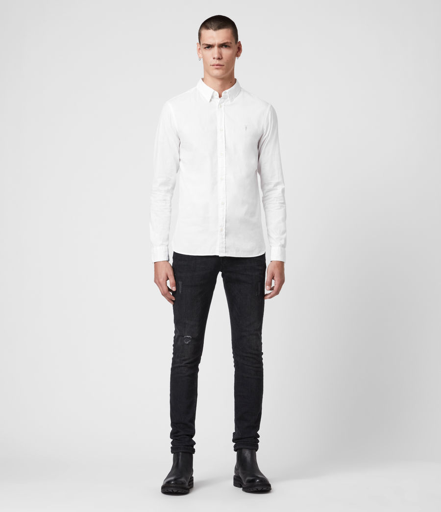 Mens Redondo Long Sleeve Shirt (white) - Image 3