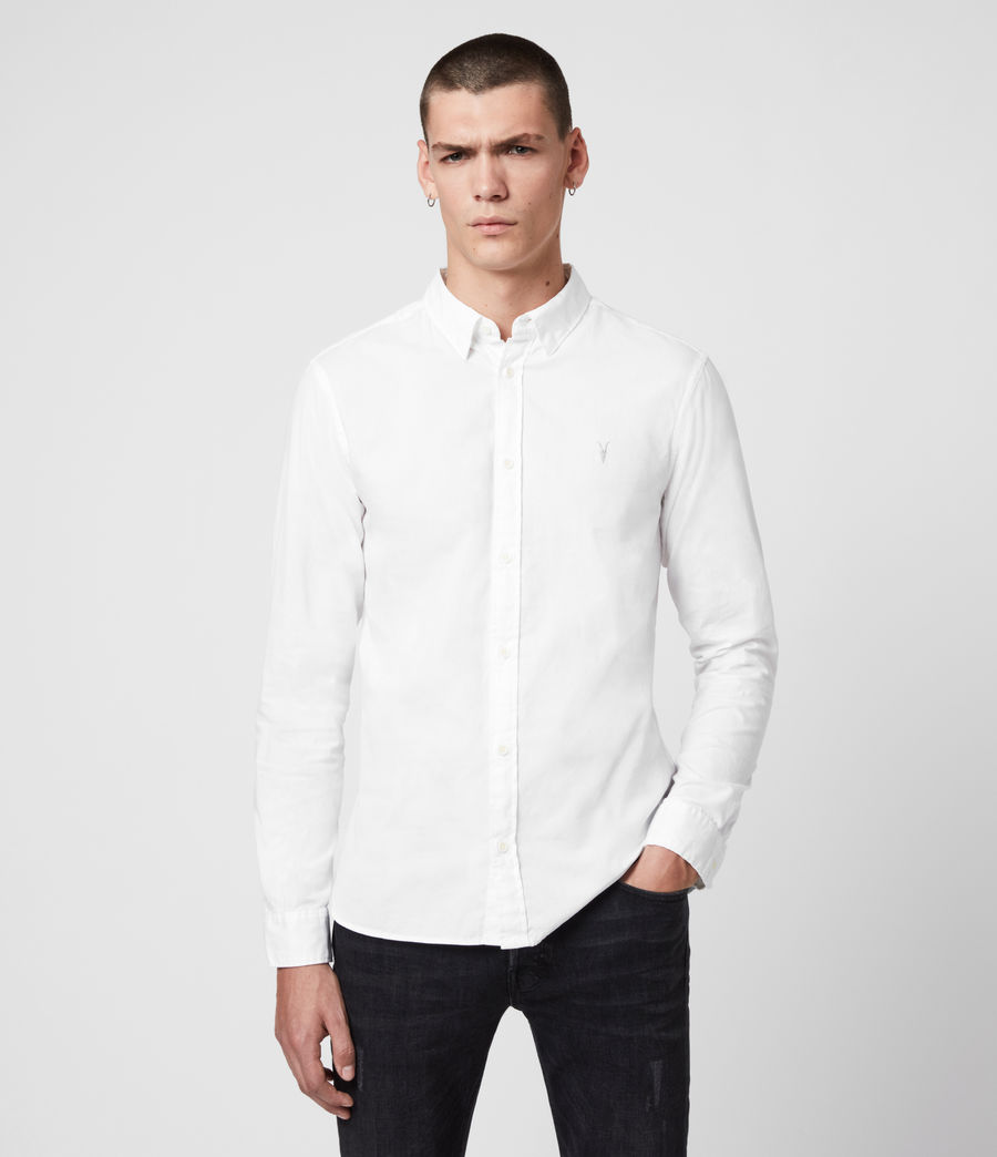 Men's Redondo Long Sleeve Shirt (white) - Image 4