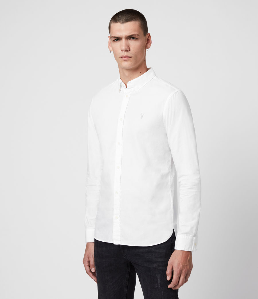 Mens Redondo Long Sleeve Shirt (white) - Image 4