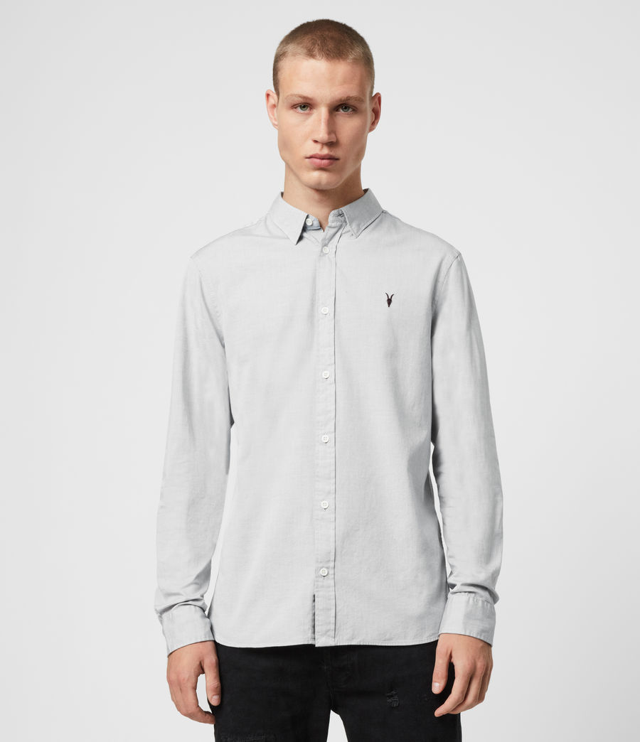 Mens Redondo Long Sleeve Shirt (light_grey) - Image 1