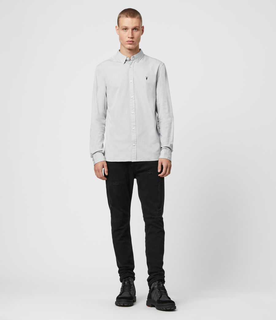 Mens Redondo Long Sleeve Shirt (light_grey) - Image 3
