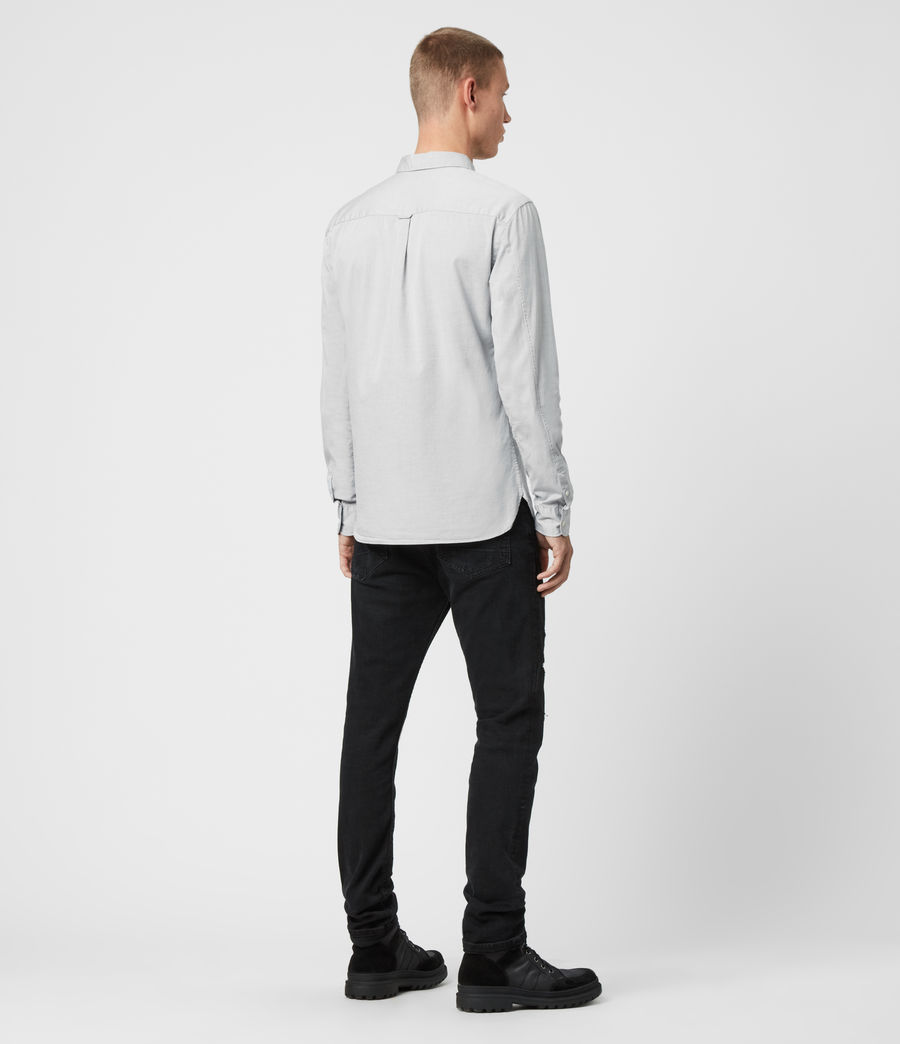 Mens Redondo Long Sleeve Shirt (tile_grey) - Image 5