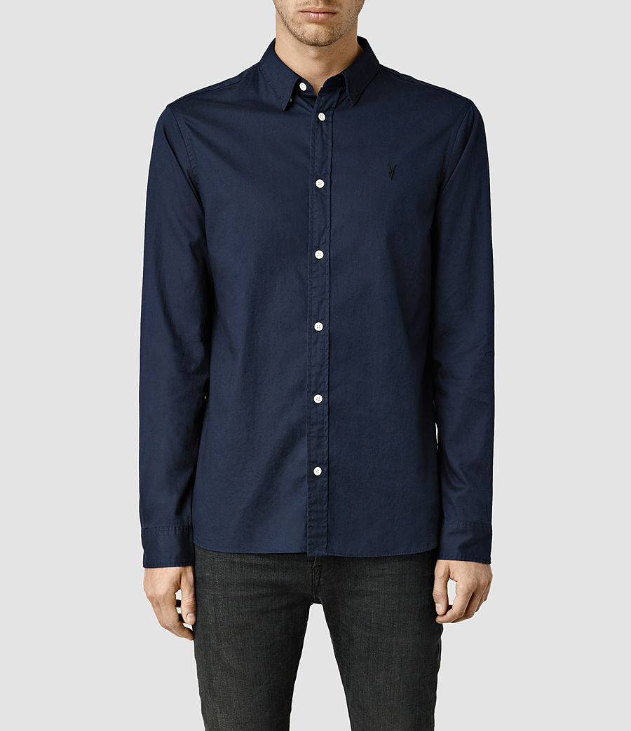 Mens Redondo Long Sleeve Shirt (ink) - Image 1
