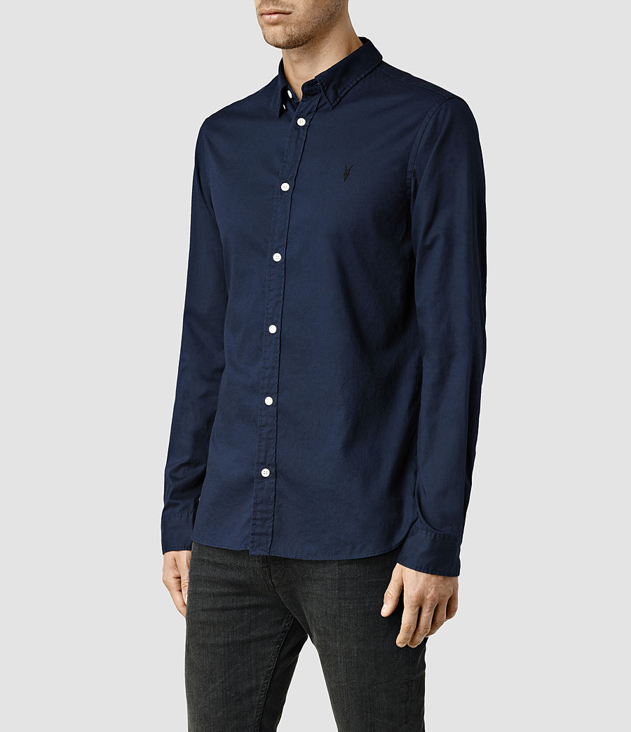 Mens Redondo Long Sleeve Shirt (ink) - Image 2