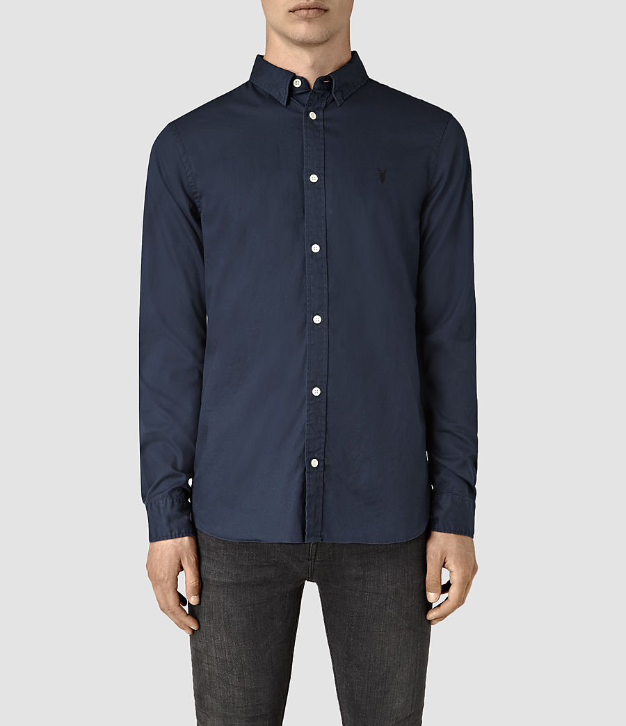 Mens Redondo Long Sleeve Shirt (ink_navy) - Image 1