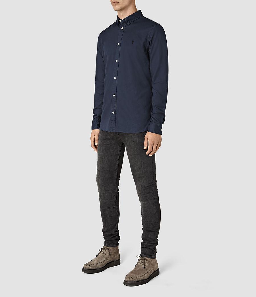 Mens Redondo Long Sleeve Shirt (ink_navy) - Image 2