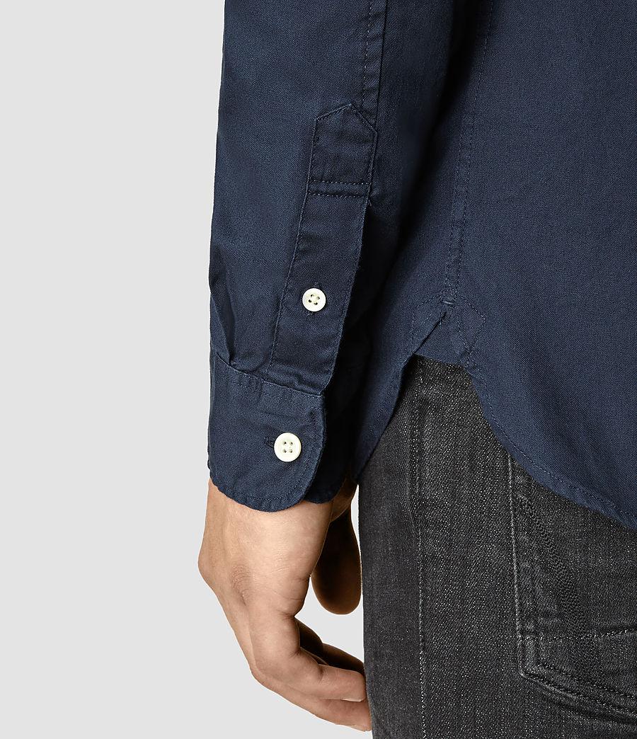 Mens Redondo Long Sleeve Shirt (ink_navy) - Image 4
