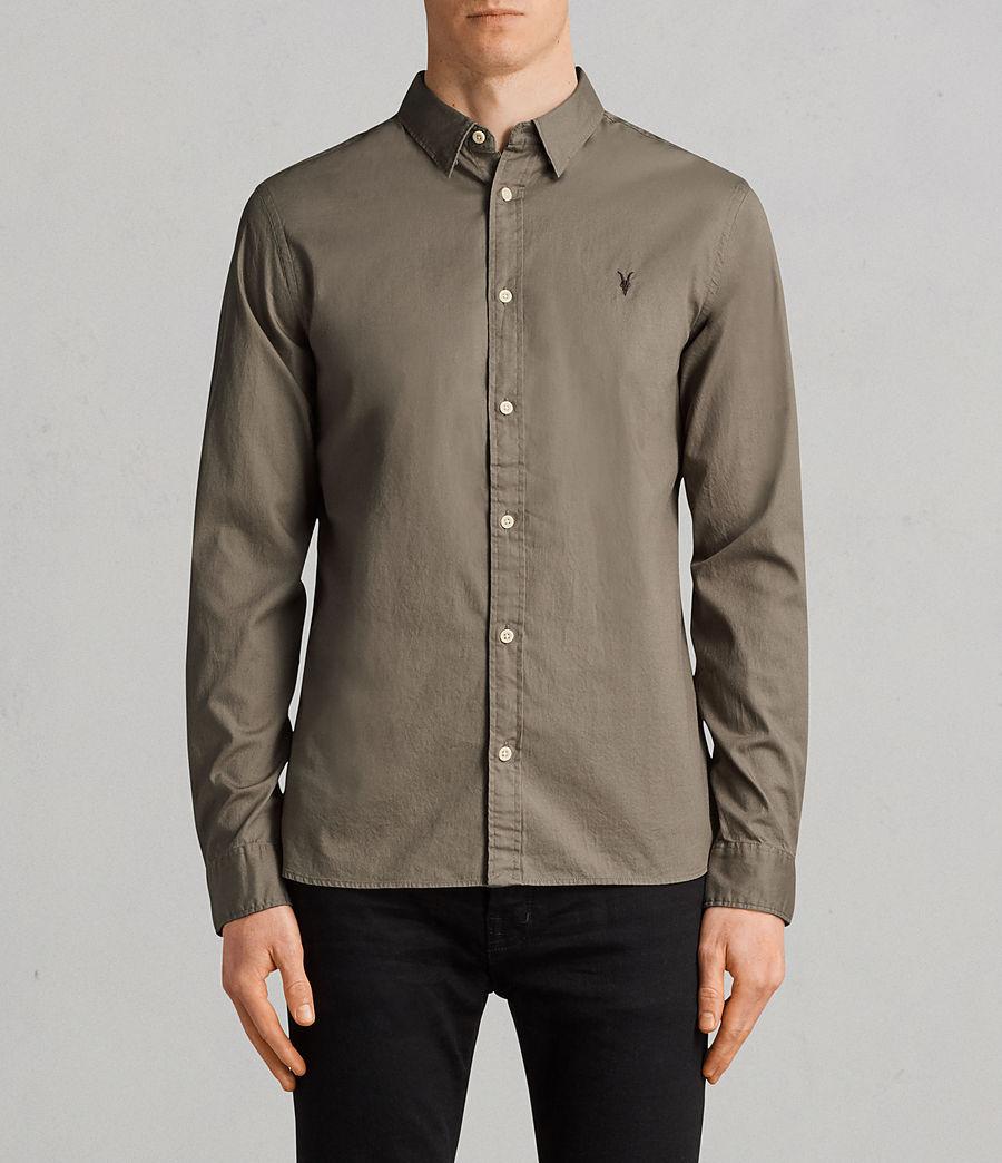 Men's Redondo Long Sleeve Shirt (olive_green) - Image 1
