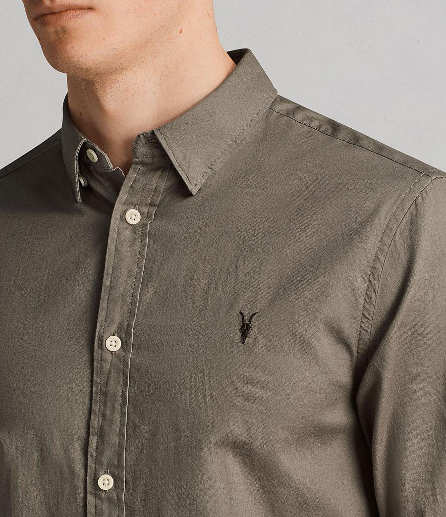 Men's Redondo Long Sleeve Shirt (olive_green) - Image 2