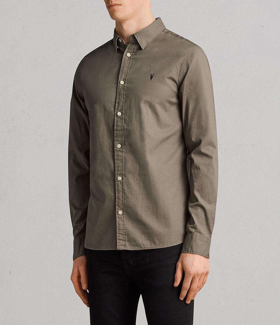Men's Redondo Long Sleeve Shirt (olive_green) - Image 3