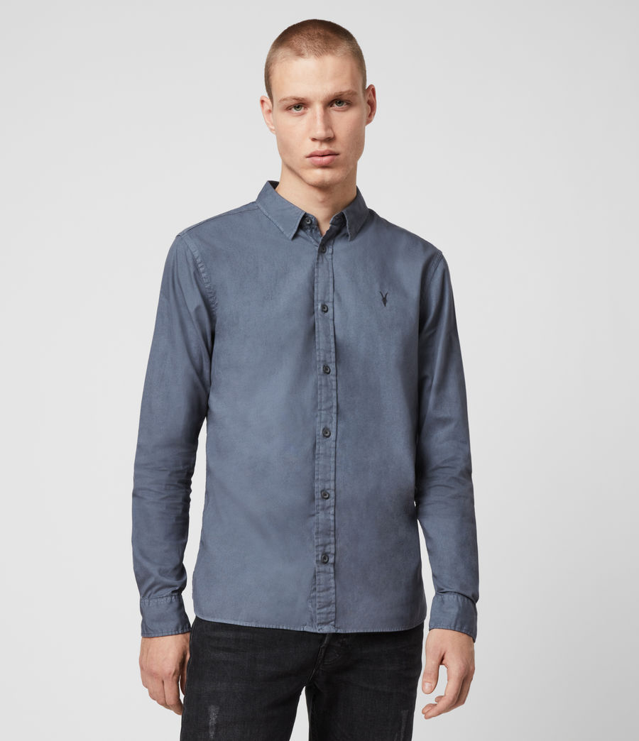 Mens Redondo Long Sleeve Shirt (ash_blue) - Image 1