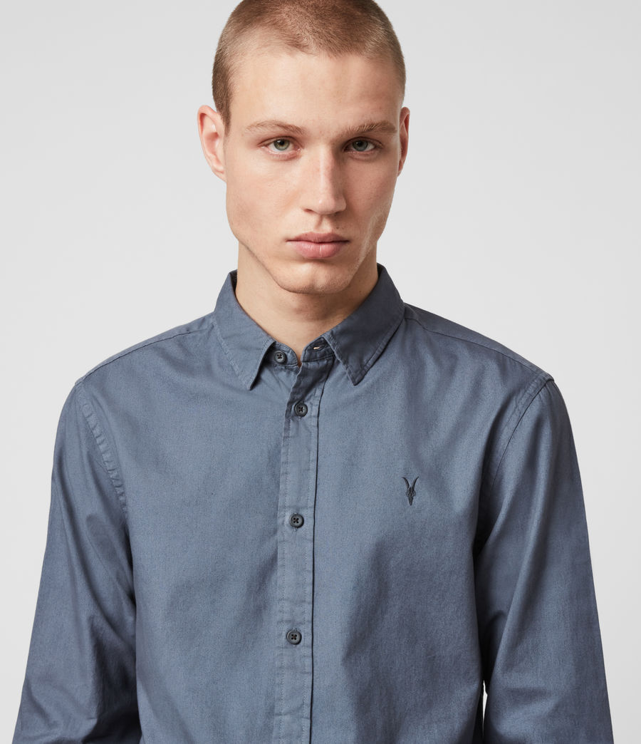 Mens Redondo Long Sleeve Shirt (ash_blue) - Image 2