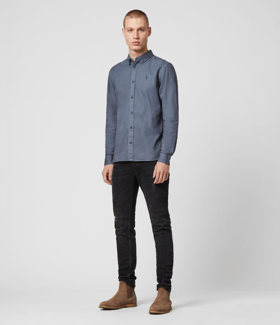 Mens Redondo Long Sleeve Shirt (ash_blue) - Image 3