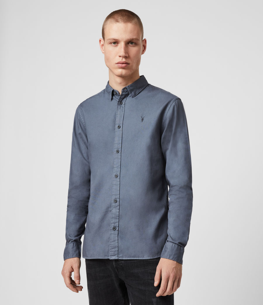 Mens Redondo Long Sleeve Shirt (ash_blue) - Image 4