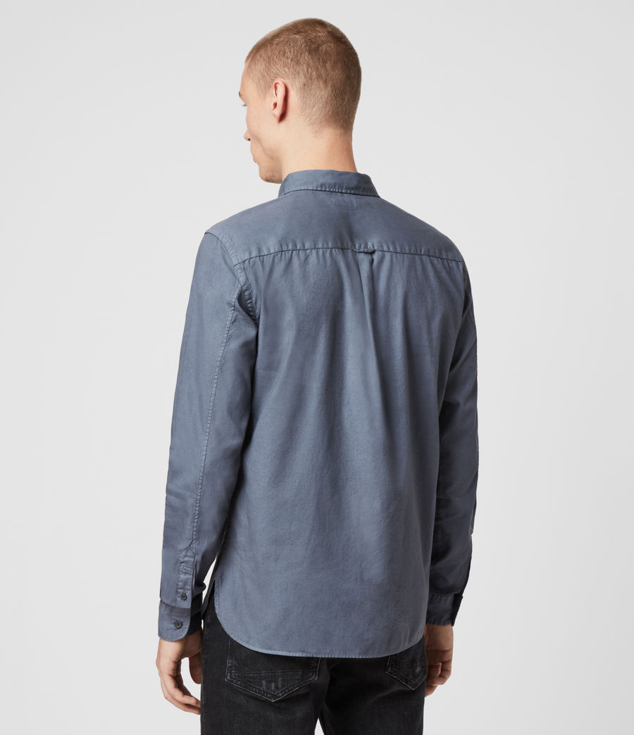 Mens Redondo Long Sleeve Shirt (ash_blue) - Image 5